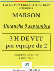 Classement VTT de Marson