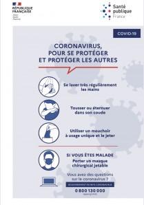 Important et urgent / Communiqué CORONAVIRUS COVID 19 / Suspension des actions